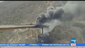 Se incendia pipa en la autopista Cuacnopalan-Oaxaca