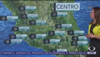 Se mantiene marcado descenso de temperatura en la mayor parte del país