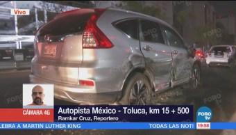 Registra Accidente Autopista México-Toluca Tráiler Impactó
