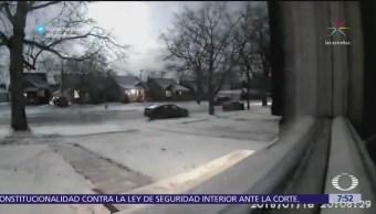 Se registra caída de meteorito en Michigan, Estados Unidos