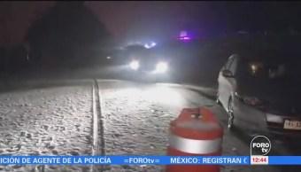 Se registra primera nevada del 2018 en Cofre de Perote, Veracruz