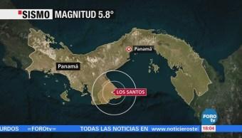 Se registra un sismo magnitud 5.8 en Panamá