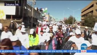 Segundo día de Caravana por la Dignidad en Chihuahua