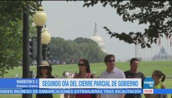 Segundo día del cierre parcial de Gobierno en Estados Unidos