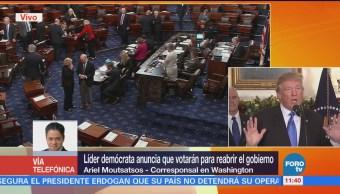 Senadores estadounidenses se ponen de acuerdo para reabrir el gobierno