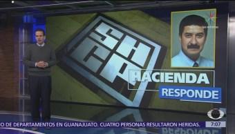 SHCP reitera su posición en el caso de Chihuahua