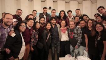 sheinbaum sostiene encuentro jovenes delegacion cuauhtemoc