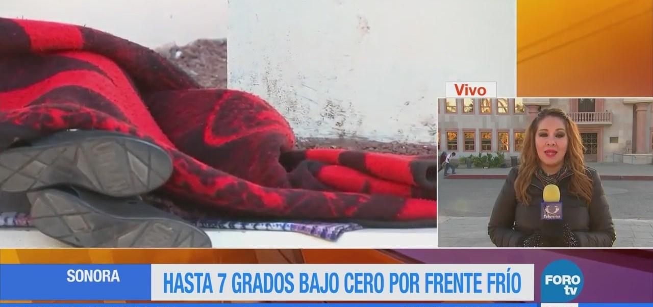 Sonora reporta hasta 7 grados bajo cero