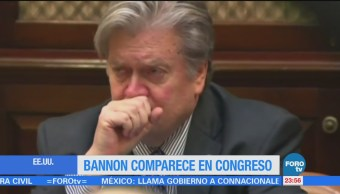 Steve Bannon compareció ante la Cámara de Representante