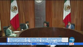 TEPJF ordena a Graco Ramírez garantizar presupuesto al tribunal electoral local