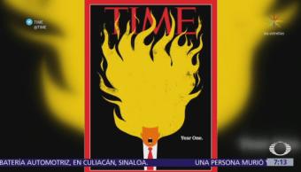 La revista TIME pone a Trump en llamas en su nueva portada