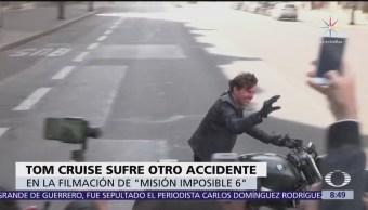 Tom Cruise sufre otro percance durante filmación de 'Misión Imposible 6'