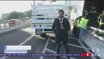 Tráiler se incendia en la Autopista México-Cuernavaca