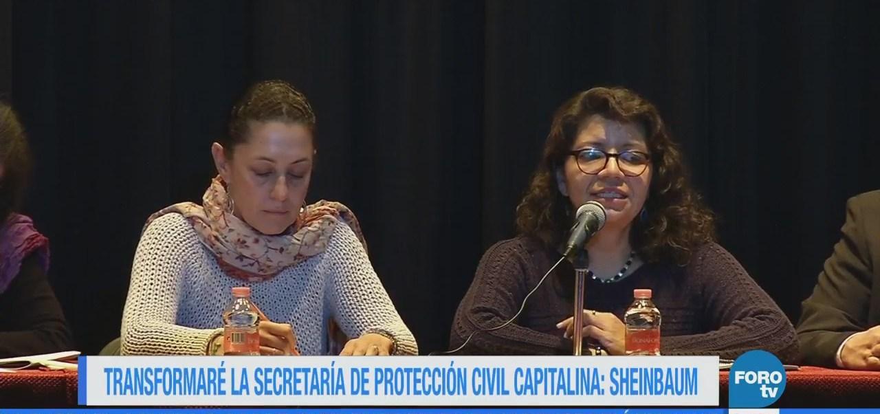 Transformaré la Secretaría de Protección Civil capitalina: Sheinbaum