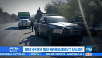 Tres Heridos Enfrentamiento Armado Apaxtla Guerrero