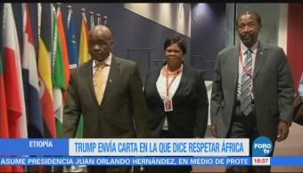 Trump Envía Carta Dice Respetar África