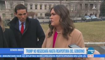 Trump Negociará Reapertura Gobierno