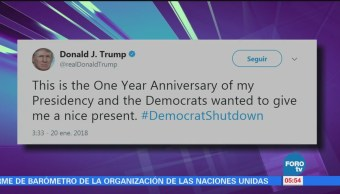 Trump 'se lanza' contra demócratas tras cierre de gobierno