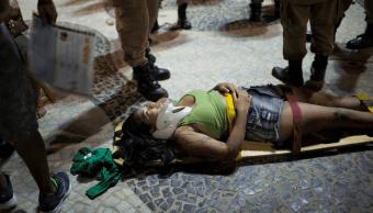 Una mujer herida en atropellamiento en playa Copacabana