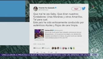Vicente Fox reclama a Gabriela Cuevas por su salida del PAN