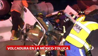 Volcadura México- Toluca Deja Tres Muertos Madrugada