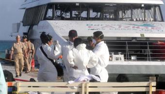 SCT suspende operaciones de Barcos Caribe por accidente en Playa del Carmen