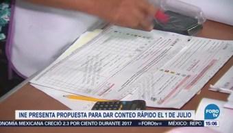 Ine Presenta Propuesta Conteo Rápido Elección Presidencial