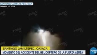 captan momento accidente helicoptero oaxaca