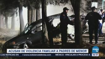 Acusan de violencia familiar a padres de menor por accidente en Tláhuac