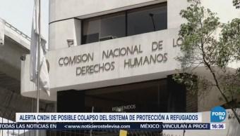 Alerta CNDH de posible colapso del sistema de protección a refugiados