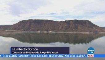 Almacenamiento de agua en presas de Sonora garantiza riego a cultivos
