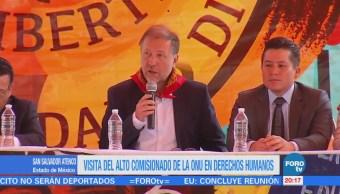 Alto comisionado de la ONU visita San Salvador Atenco