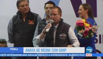 Anaya se reúne con simpatizantes en Puebla