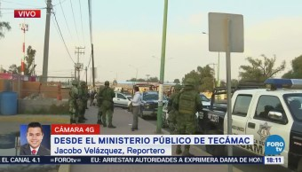 Aplican resguardo inusual en Ministerio Público en Tecamac