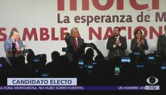 Asamblea Electiva de Morena vota por candidatura presidencial de López Obrador