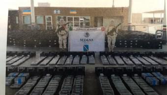 Aseguran 800 kilos de cocaína en camión de aguacates