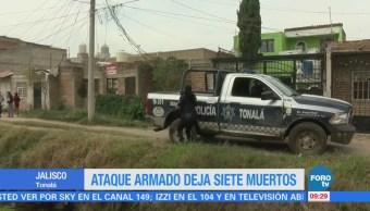 Ataque armado deja siete muertos en Jalisco