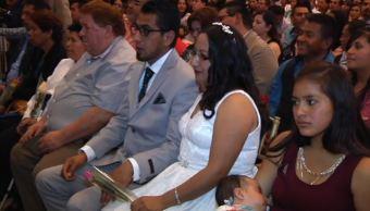 Celebran bodas colectivas en Pachuca durante el 14 de febrero