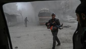 Bombardeos en Guta Oriental deja 95 niños muertos