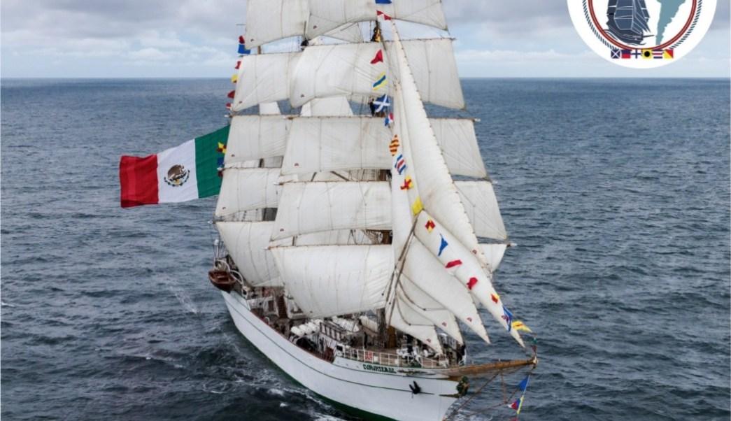 cadetes del buque escuela cuauhtemoc enfrentan vientos