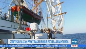 Cadetes realizan prácticas en buque escuela Cuauhtémoc