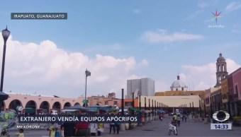 Capturan en Guanajuato a italiano con generadores de luz piratas