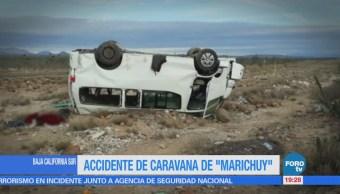 Caravana de 'Marichuy' sufre accidente en BCS