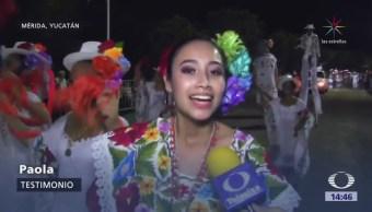 Carnaval Mérida Muestra Trajes Tradicionales