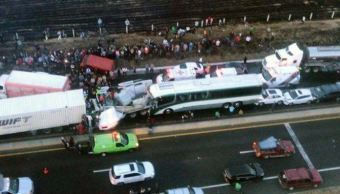 carambola deja dos muertos y 15 heridos en lerma, estado de mexico