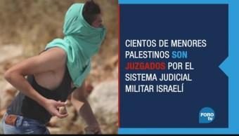 Cientos de palestinos sometidos a Cortes militares
