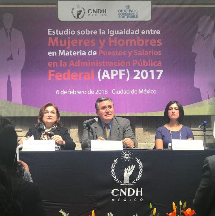 Persiste desigualdad de género en la función pública federal: CNDH