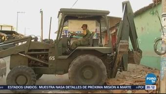 Comienza demolición de viviendas afectadas por sismo en Oaxaca