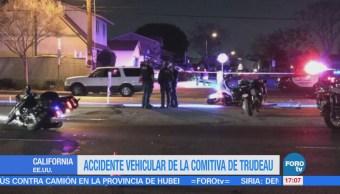 Comitiva de Trudeau sufre accidente vehicular en California, EU