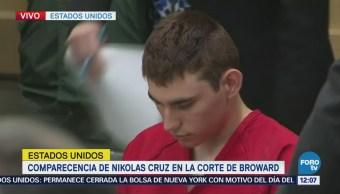 Comparecencia de Nikolas Cruz en la corte de Broward